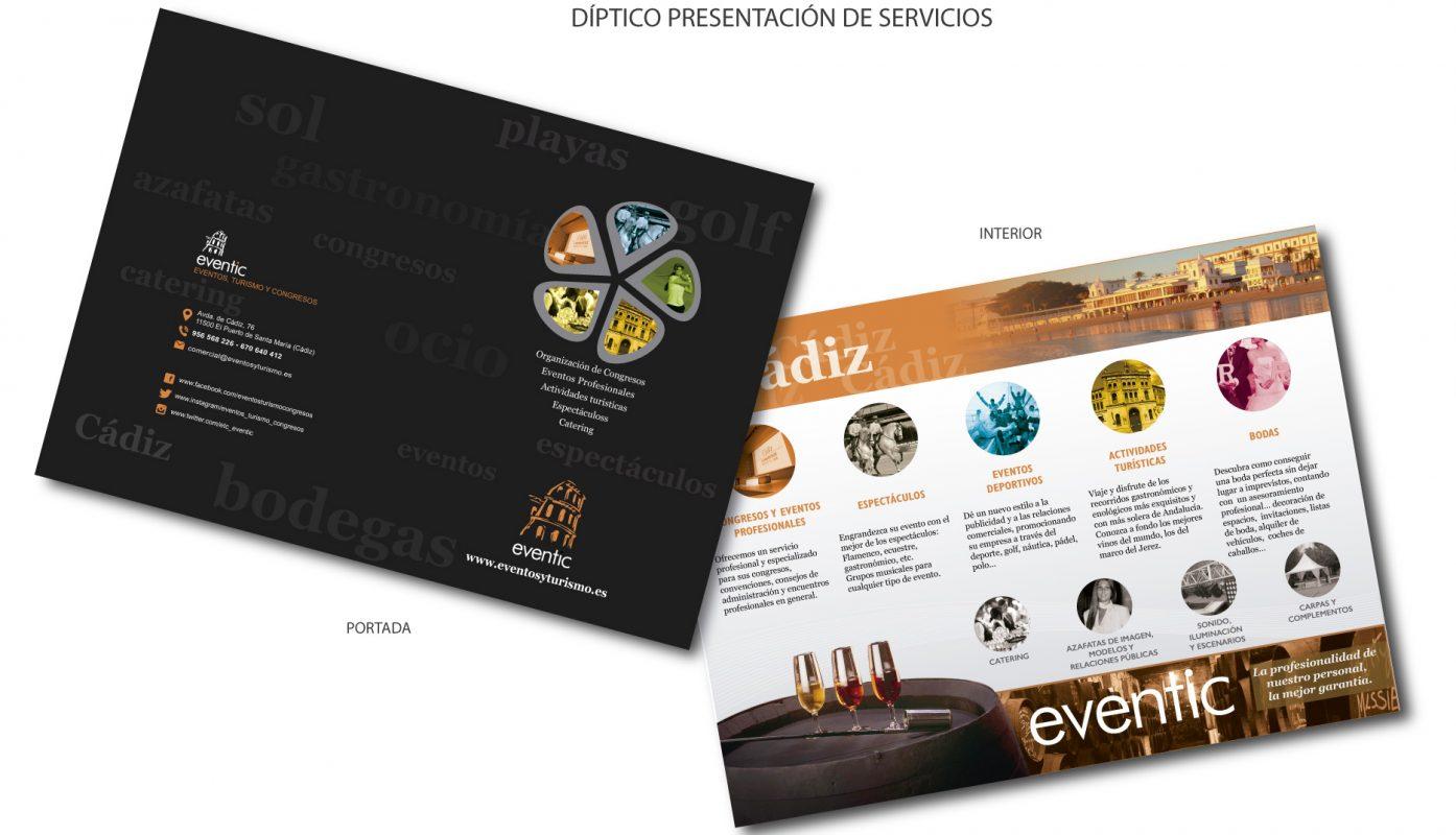 Eventic, papelería y folletos A5