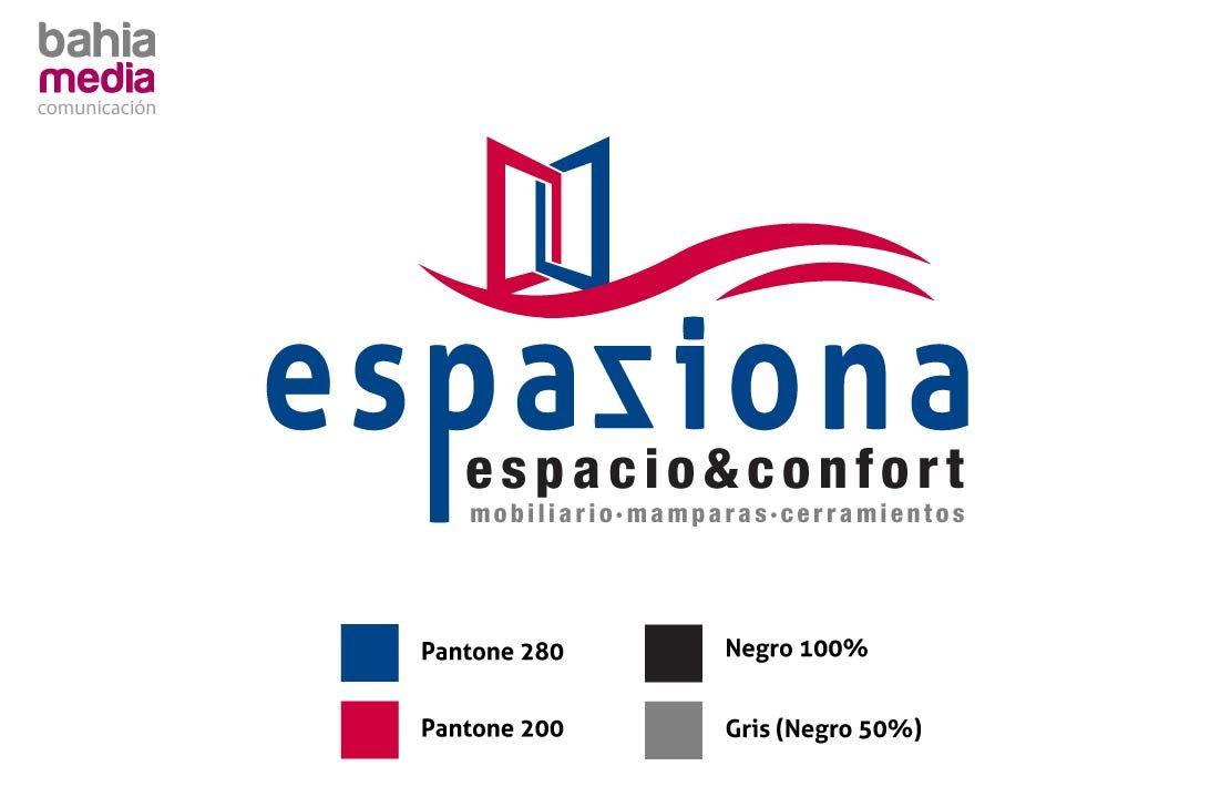 Logo de Espaziona con brand slogan