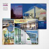 Diseño gráfico de folleto tríptico Espaziona Enero 2018