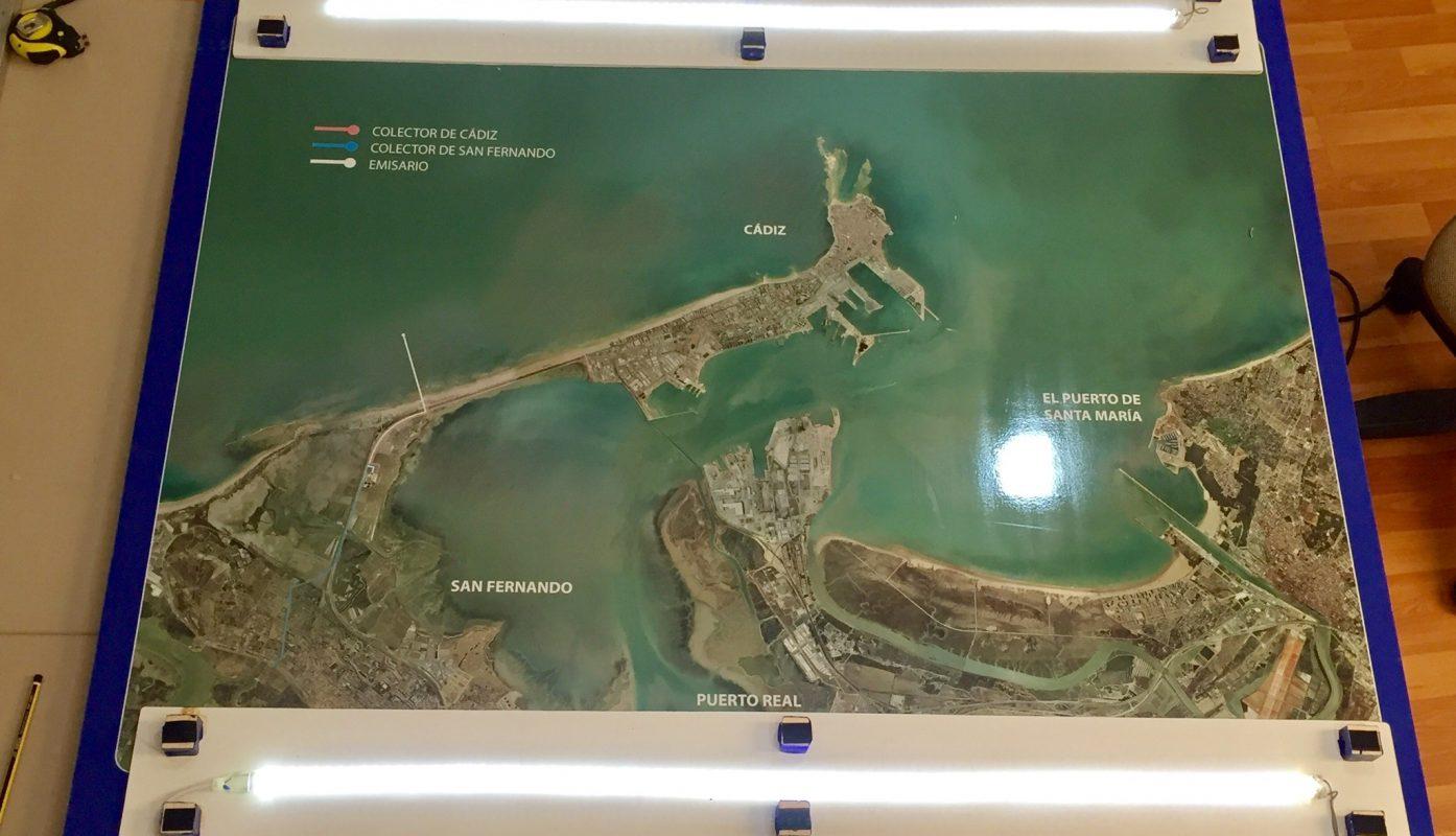 Edar de Cádiz. Cuadro con retro-iluminación LED