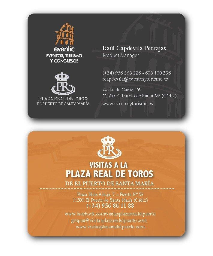 Tarjetas conjuntas de Eventic y Visitas a la Plaza Real de toros