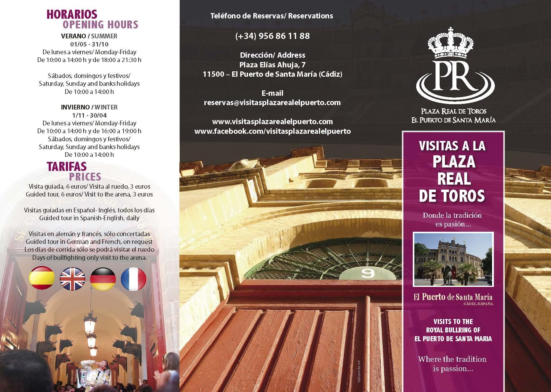 Triptico Plaza Toros El Puerto