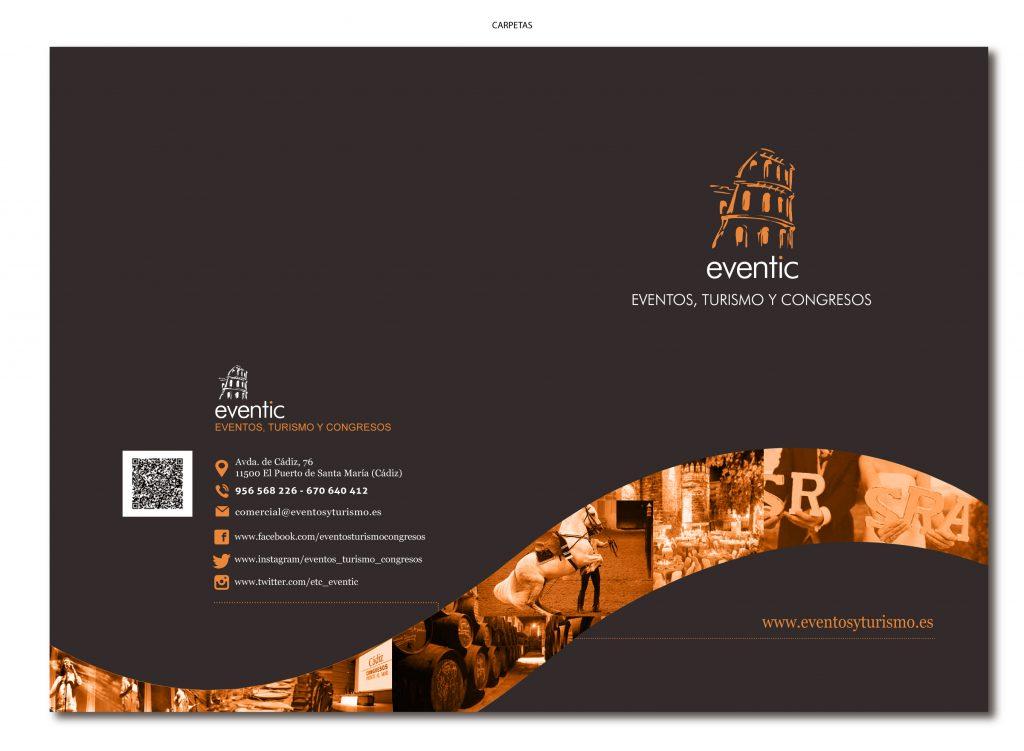Diseño gráfico e impresión de Carpetas A4 Eventic con solapa
