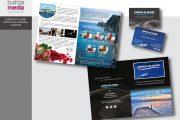 Estudio de diseño gráfico en Cádiz. Díptico catálogo y tarjetas comercial