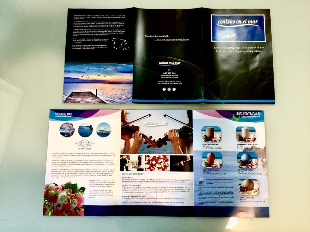 Estudio de diseño gráfico en Cádiz. Tríptico catálogo comercial