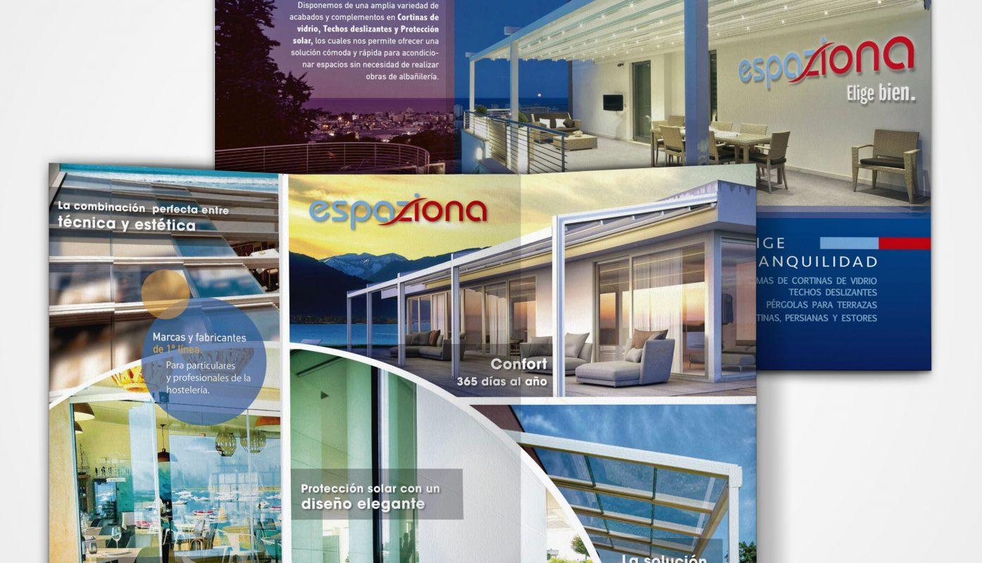 Diseño gráfico de folleto Tríptico en Cádiz