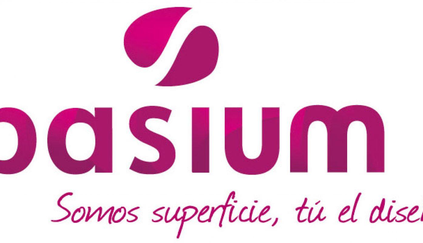 Logotipo Basium. Empresa de superficies sólidas con Corian