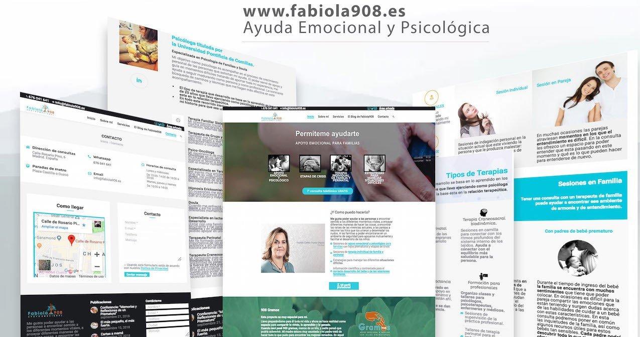 Diseño de página web Fabiola908