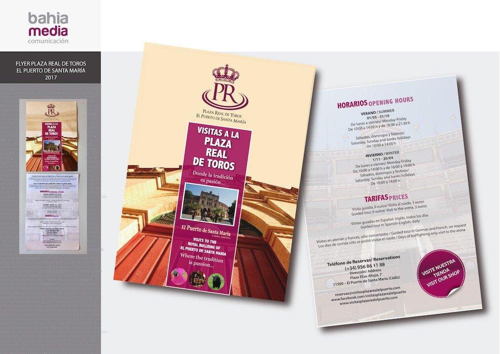 Diseño de flyer plaza toros puerto de santa maria 2017