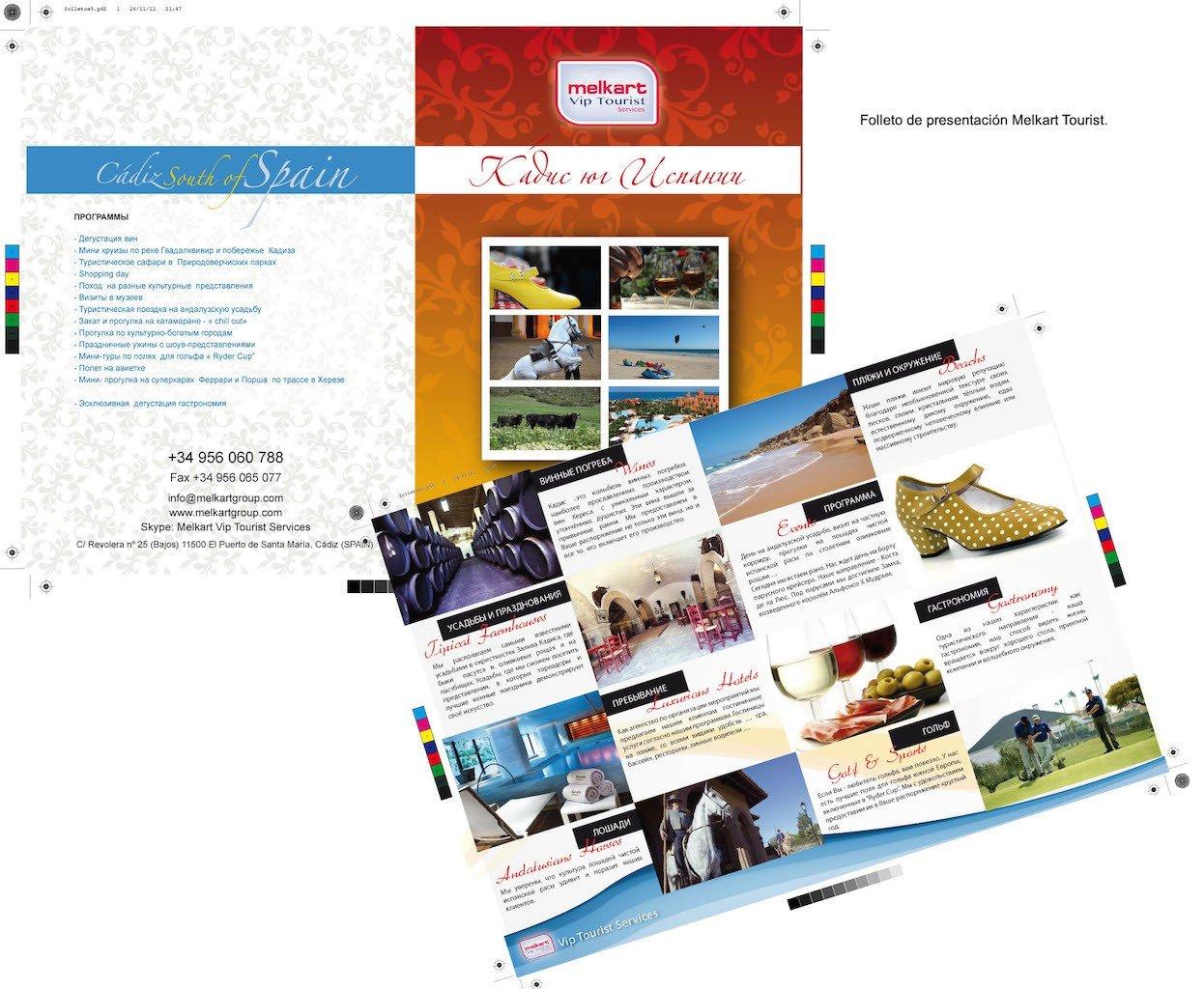 Diseño gráfico de folletos de empresas comerciales en Cádiz