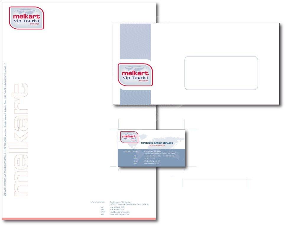 Diseño gráfico de papeleria de empresa cadiz