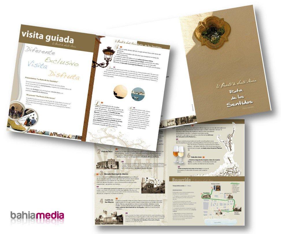Diseño gráfico de papeleria de empresas. Publicidad en Cádiz Dossier presentación el Puerto de Santa María