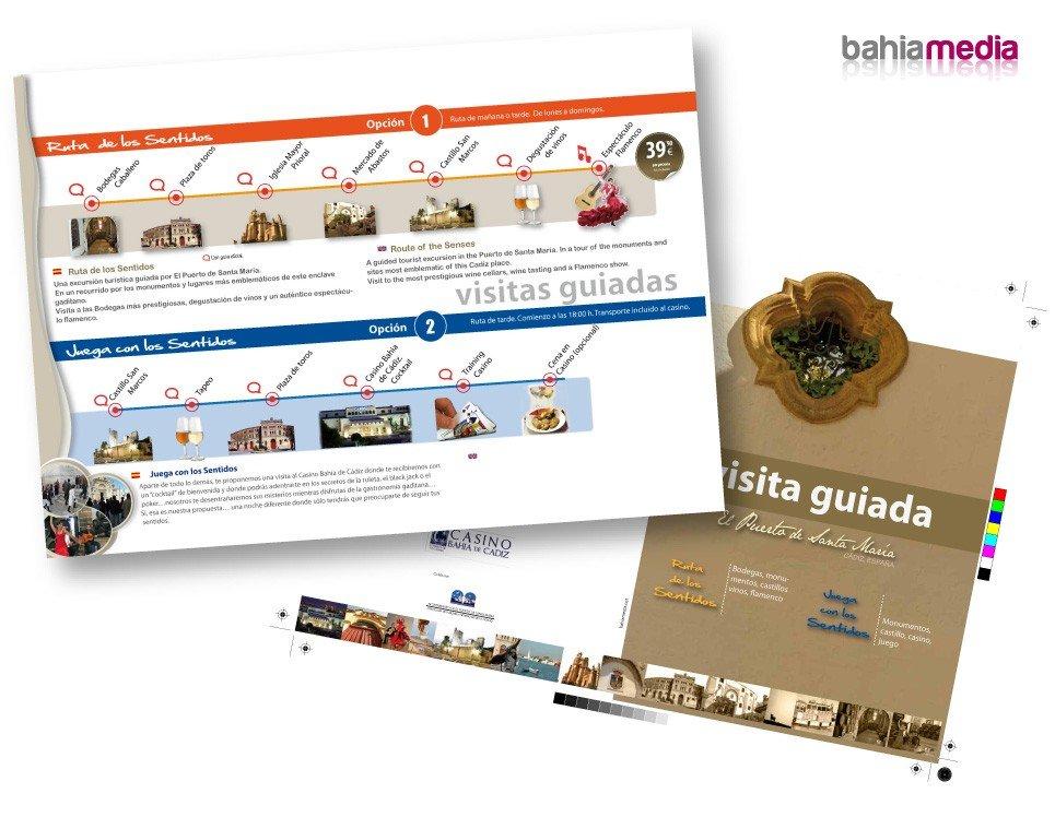 Diseño gráfico de folletos dipticos Publicidad y diseño en Cádiz